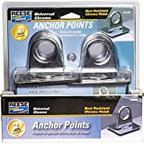 REESE Secure Universal Chrome Anchor Point Set, 2 pack (9423800)