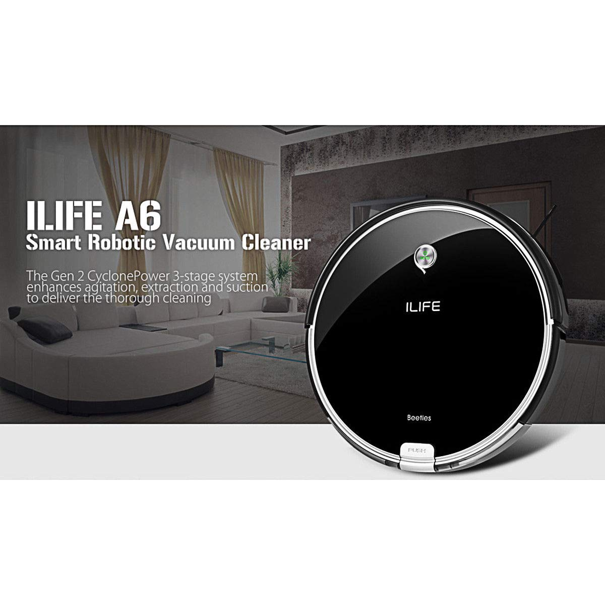 I LIFE A6 Intelligent Vacuum Cleaner Automatic Cleaner 1000pa Cleaning: Amazon.es: Hogar