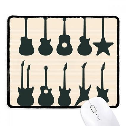 DIYthinker Guitarra eléctrica Música vitalidad Suena antideslizante Mousepad Juego de oficina Negro Titched Bordes regalo