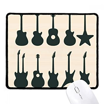 DIYthinker Guitarra eléctrica Música vitalidad Suena antideslizante Mousepad Juego de oficina Negro Titched Bordes regalo: Amazon.es: Oficina y papelería