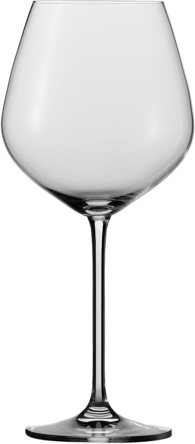 Schott Zwiesel Stemware Fortissimo Collection Tritan Crystal Burgundy, Red Wine Glass, 24.6-Ounce, Set of 6