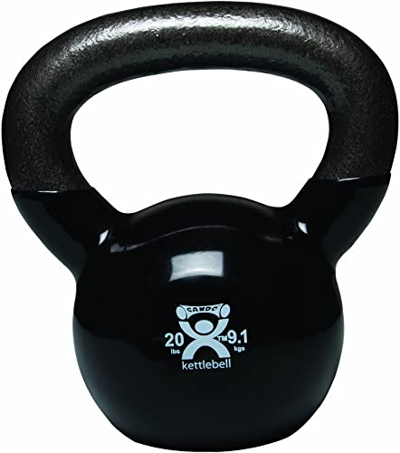 Cando 10-3195 Black Kettle Bell, 20 lbs Weight
