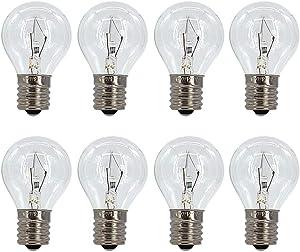 8 Pack S11 Intermediate E17 Base 25 Watt Bulbs for Lava Lamps,Replacement Bulbs for Lava Lamps,Glitter Lamps(8 Pack)