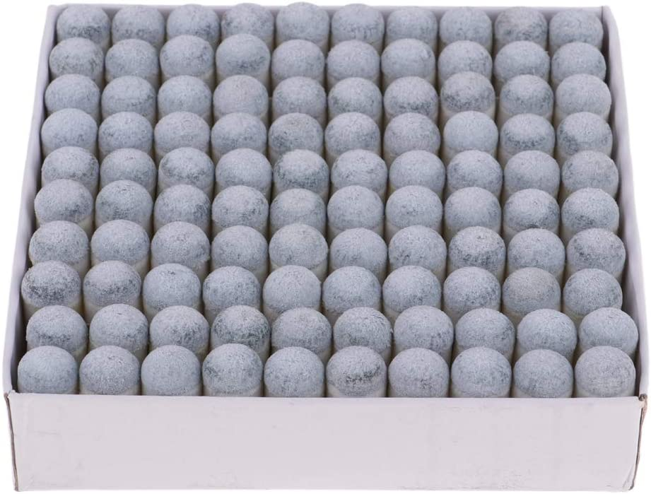 IPOTCH 100pcs//Lot 10mm Billiards Snooker Pool Cue Stick Ferrules with Slip-On Tips Hard Tip