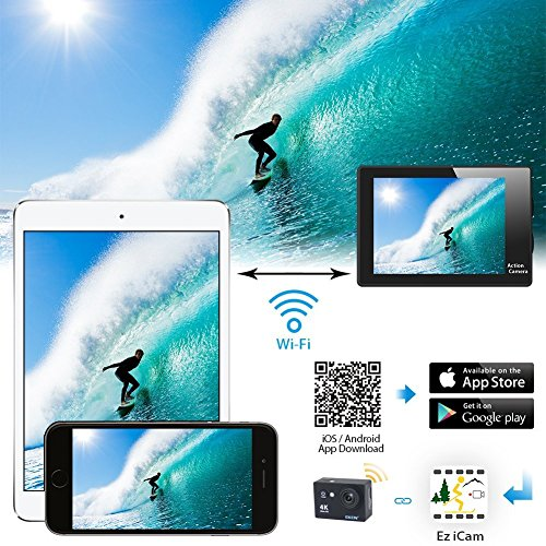 SALE-Auto-Tech-H9R-Action-Camera-4K-Waterproof-Wifi-Sports-Camera-Full-HD-4K-25FPS-27K-30fps-1080P-60fps-Video-Camera-12MP-Photo-and-170-Wide-Angle-Lens-Includes-11-Mountings-Kit-2-Batteries