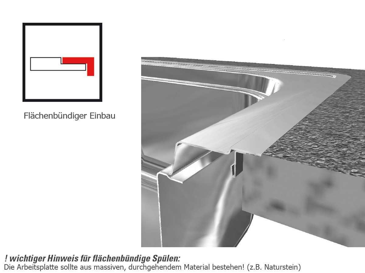 Franke Box BXX 210//110-54 Edelstahl-Sp/üle glatt Sp/ülbecken K/üchensp/üle Einbau Stopfenventil