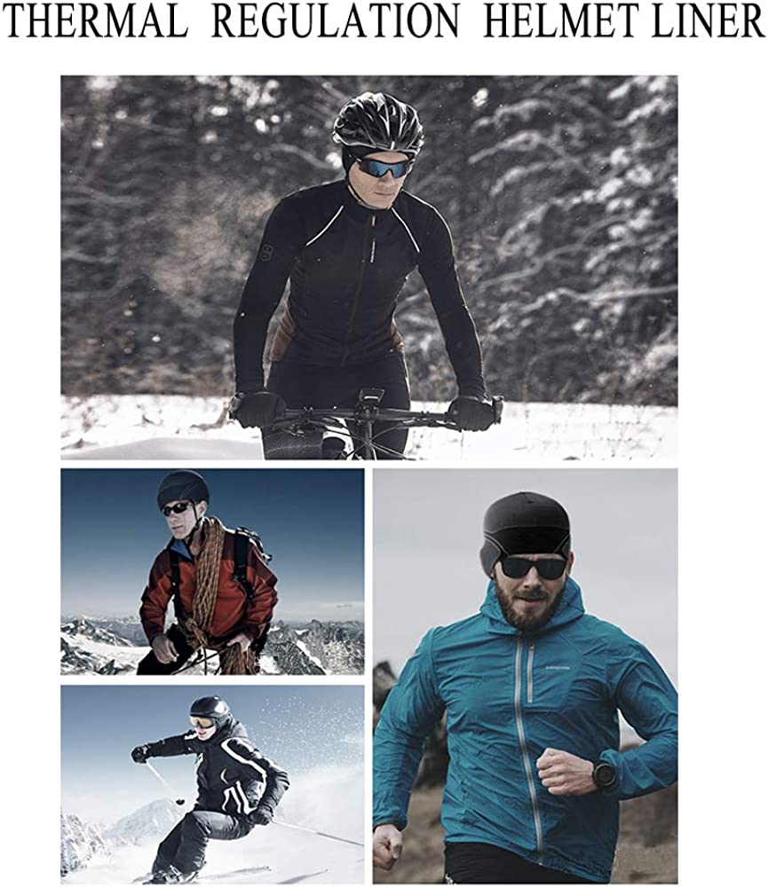 3 Pack Cooling Skull Cap Helmet Liner Sweat Wicking Cycling Running Hat for Men Women: Clothing