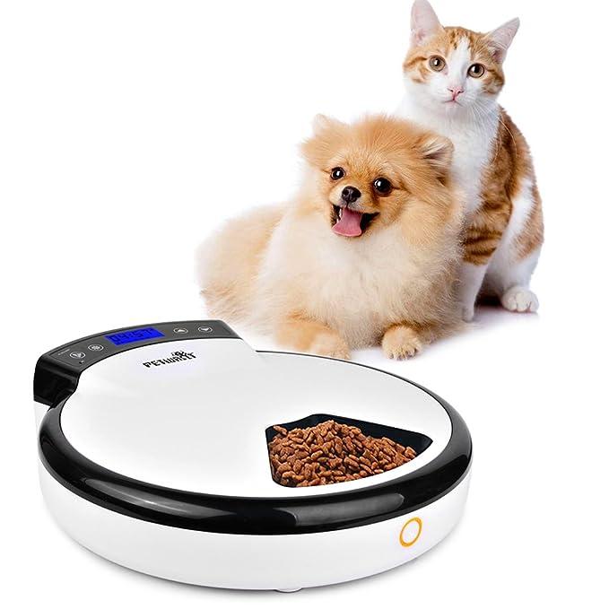 Automatic Pet Feeder automática mascotas Bandeja 5 Comidas ...