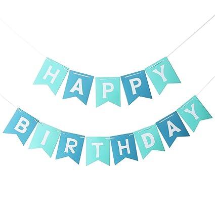 Pixnor Happy Birthday Banner Party Dekorationen Amazon De Kuche