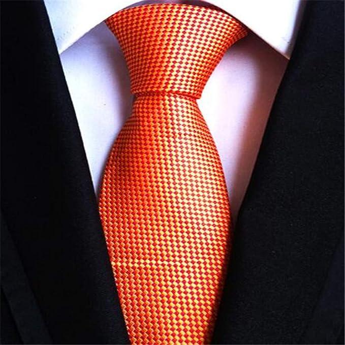 XJIUER corbata Diseño único Moda Poliéster Seda 8cm Hombre Corbata ...