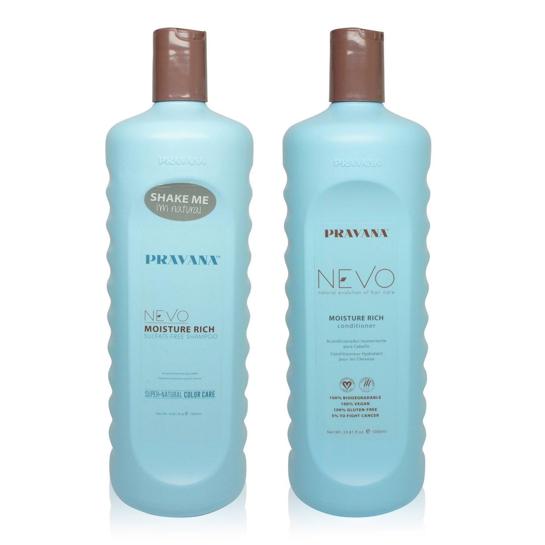 Pravana NEVO Moisture Rich Shampoo and Conditioner 33.8 oz Combo Pack by Pravana