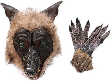 Wolf Head Mask Animal Cosplay Costume Prop Halloween Party Masquerade Decro