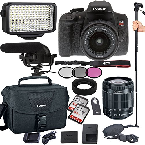Canon EOS Rebel T6i 24.2 MP Digital SLR Camera with EF-S 18-