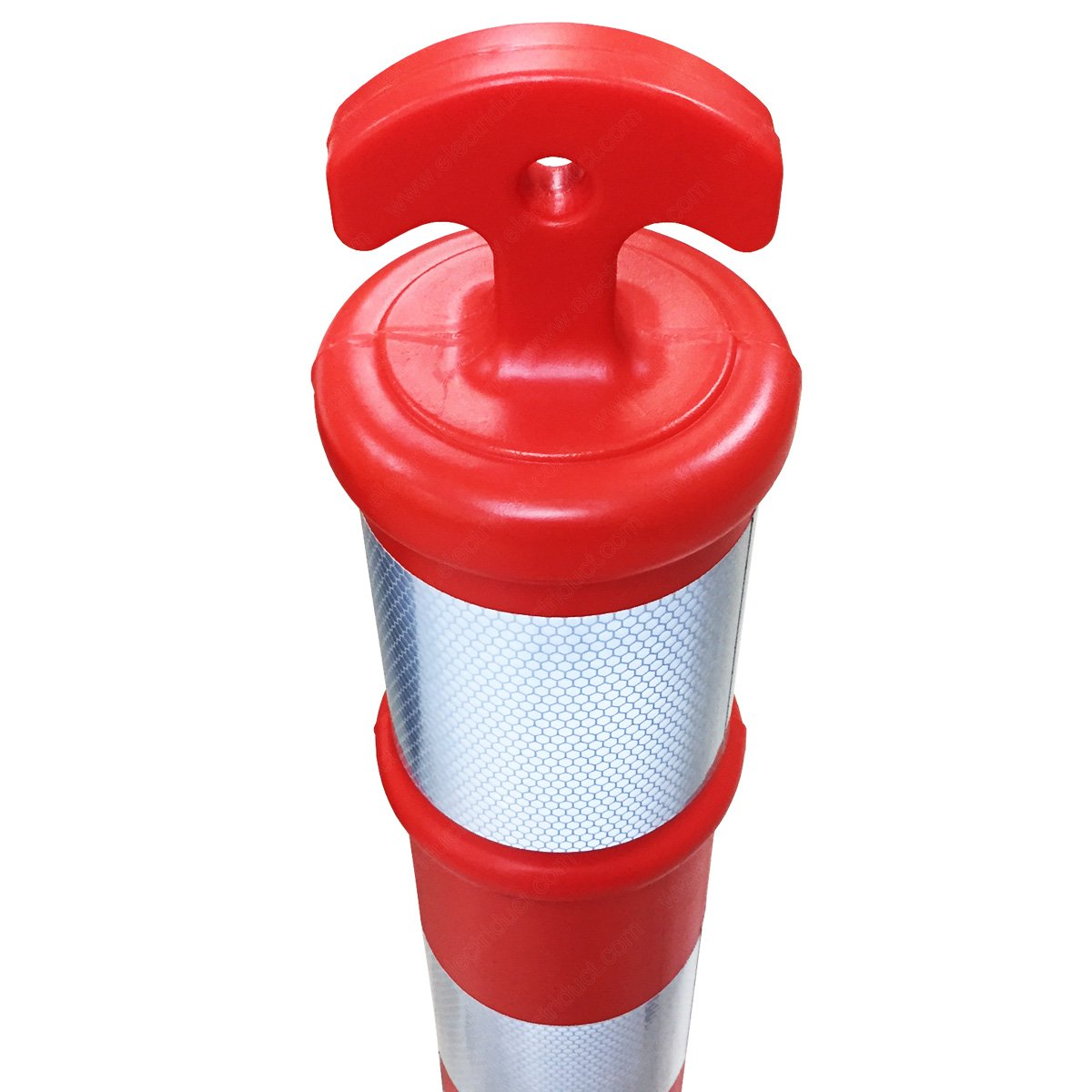 Safety Orange 44 Traffic Delineator Post with Arrow Top Tube and Reflectors 16 Base Pack of 12