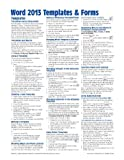 Microsoft Word 2013 Templates and Forms Quick Reference Guide (Cheat Sheet of Instructions, Tips and Shortcuts - Laminated Card), Beezix Inc., 1936220849