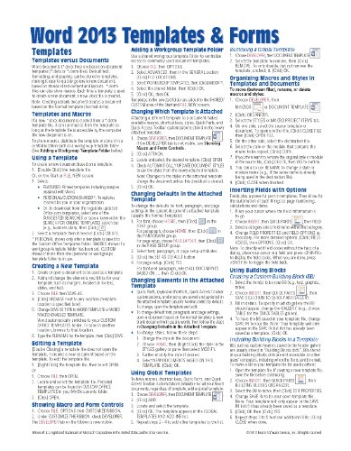 microsoft word 2013 cheat sheet