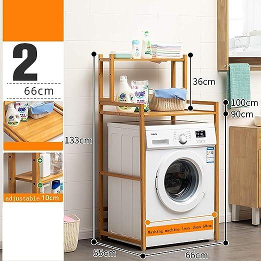 Machine shelf Estante for lavadora de madera de bambú de 2 capas ...
