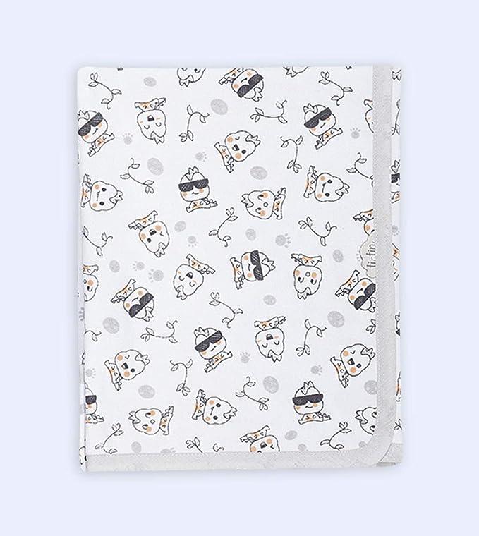 Ti TIN - Arrullo para Bebé de Doble Capa de Punto Suave y Absorbente 100% Algodón con Doble Tejido Interlock, Estampado de Gatos Panda Color Gris.: Amazon.es: Bebé
