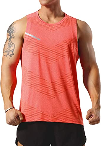 Men/'s Fitness Training Running Sports Vest Quick Dry Sleeveless Elastic Tops