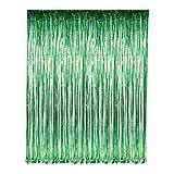 neon blue streamer - Green Foil Fringe Curtain – 3' X 8' (36