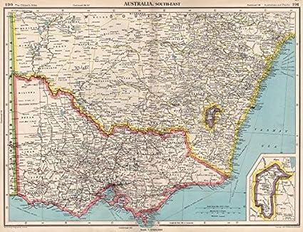 Map South East Australia.Amazon Com South East Australia Victoria Nsw Federal Capital