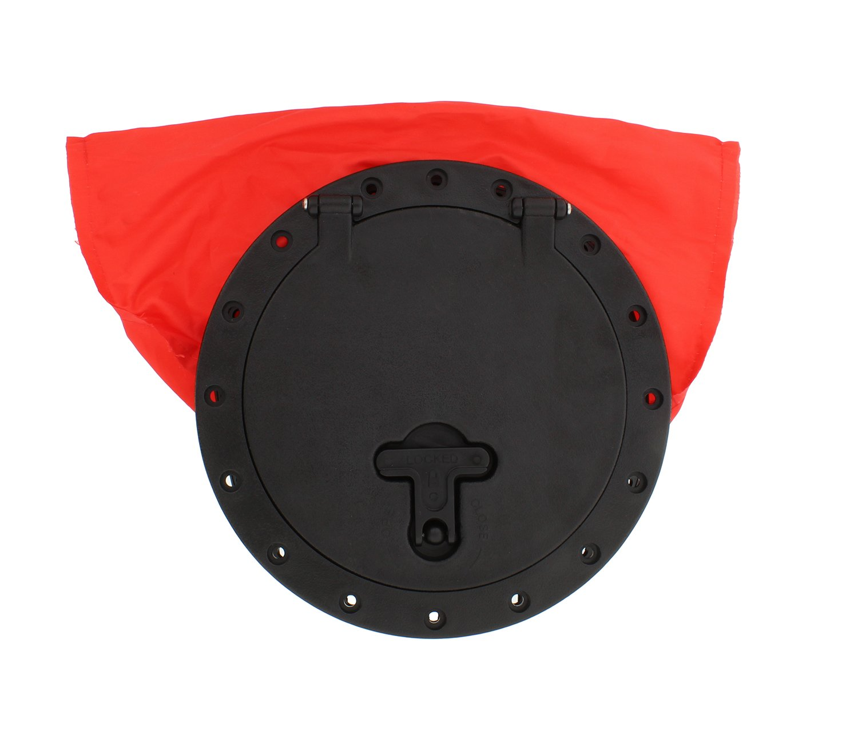 "Redneck Convent Kayak Deck Plate Hatch Bag, 8"" inches – Watertight & Water-Resistant Storage Bag for Keys, Sunglasses, Snacks, More"