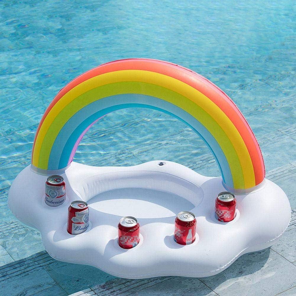 iYoung Soporte Hinchable para Bebidas, Nubes de Arco Iris ...