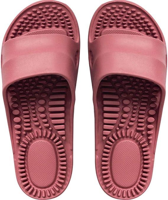 WTFYSYN Zapatillas de Masaje Hombres,Masajee Las Plantas de los pies y Las Zapatillas, los Puntos de acupuntura del pie con Zapatos de pedicura de Hueso Duro: Amazon.es: Deportes y aire libre