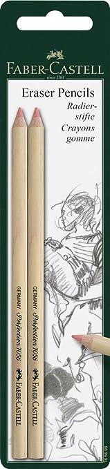 12 opinioni per Faber-Castell- Confezione di 2 gomme a forma di matita, per cancellare con