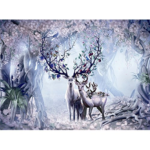 Ingooood- Jigsaw puzzle- Painting Series- Longevity deer in forest- 500 Pieces for Adult