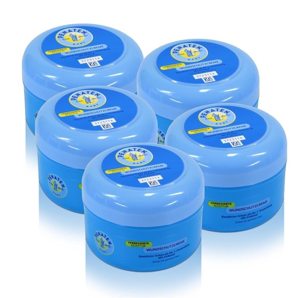 Penaten Wundschutzcreme 200ml – Beruhigende Wundcreme für die tägliche Pflege – Speziell für den Schutz vor Wundsein im Windelbereich (3 x 200ml) 82084