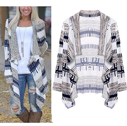 Walant Geometric Boyfriend Cardigan Sweater