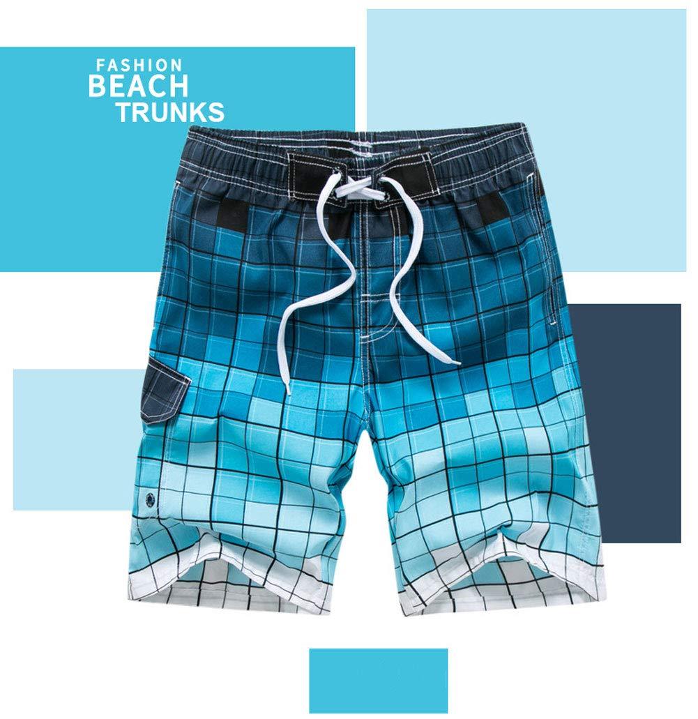 Ophestin Mens Quick Dry Swim Trunks, Blue, 4X-Large