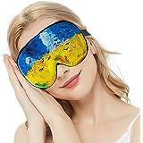 Silk Sleep Mask & Blindfold, Soft Eye Mask with Adjustable Head Strap, Deep Rest Eye Masks for Sleeping Night Eyeshade, Eye Cover for Travel, Shift Work & Meditation(Aerial Bird)