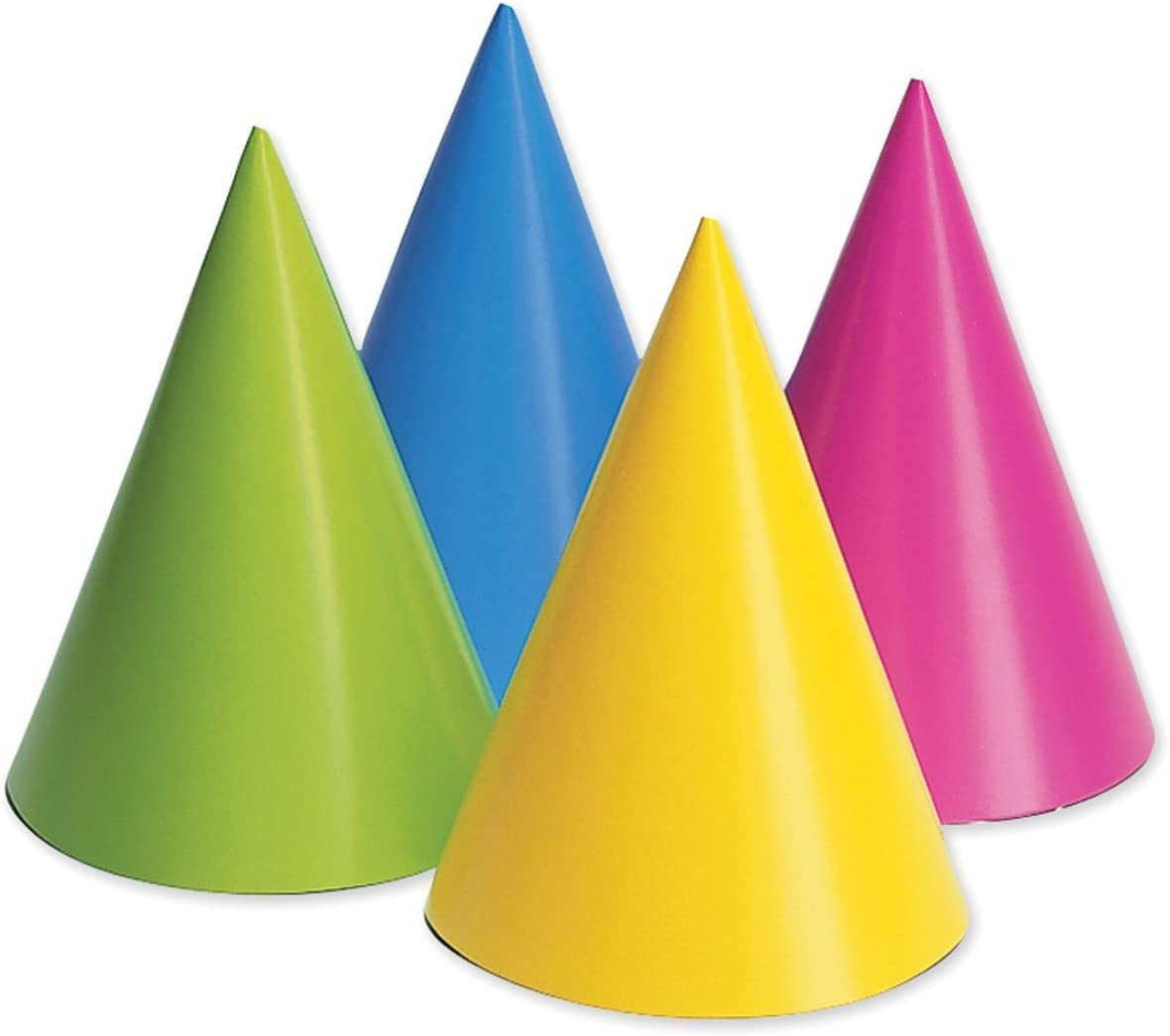 Creative Converting 20PH-0010 Party Hats, Assorted Neon, 16-Pack: Toys & Games