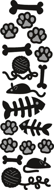 Marianne Design Fustelle Craftables per Punzonatura Cani e Gatti, Metal, Grey, 2.7x9.4x0.3 cm MDCR1368