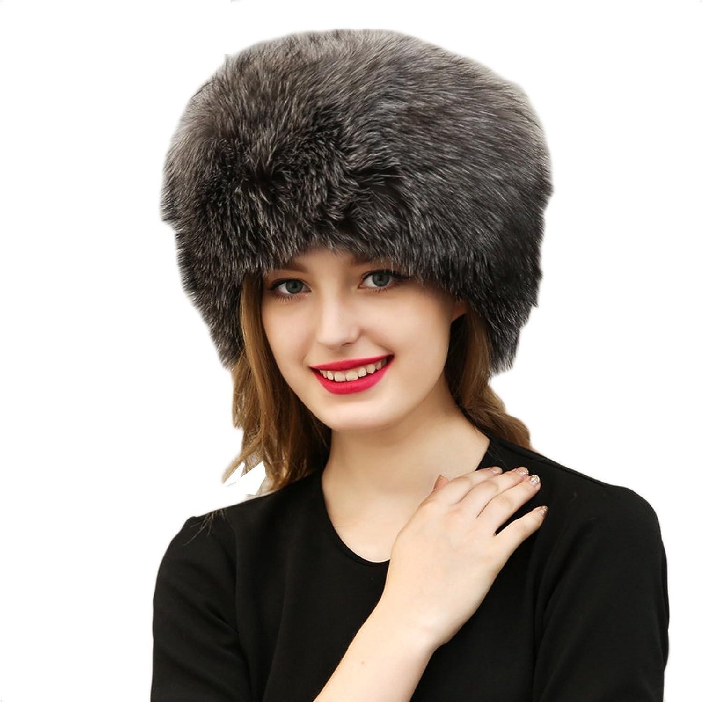 EFINNY Women's Faux Fur Leather Russian Style Winter Warm Cover Ear Headwear Hat
