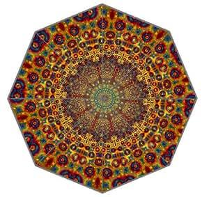 Symbol in Hinduism Buddhism Mandala 15 Pattern Umbrella Anti-sun And Rain Folding Polyester Fabric Umbrella Party Supply