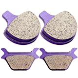 #10: Kevlar Carbon Brake Pads ECCPP Motorcycle Replacement Front and Rear Pads Sets for 1988-1999 Harley Sportster Softail Series All Model