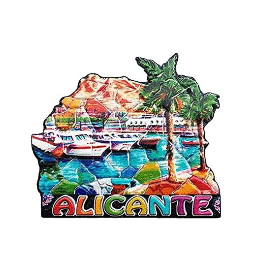 MUYU Magnet Alicante España 3D imán de Nevera de Viaje Souvenir ...