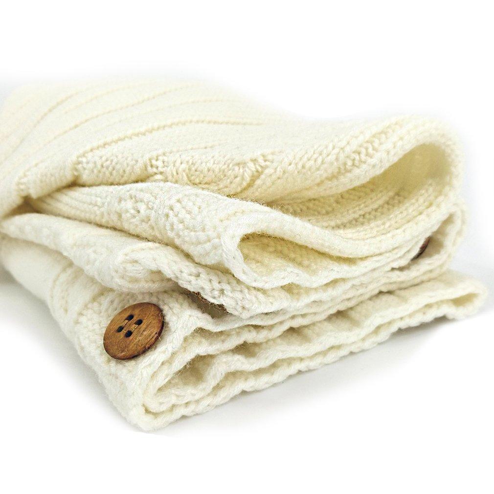 XMWEALTHY Newborn Baby Wrap Swaddle Blanket Knit Sleeping Bag Sleep Sack Stroller Wrap for Baby 0-6 Month Red