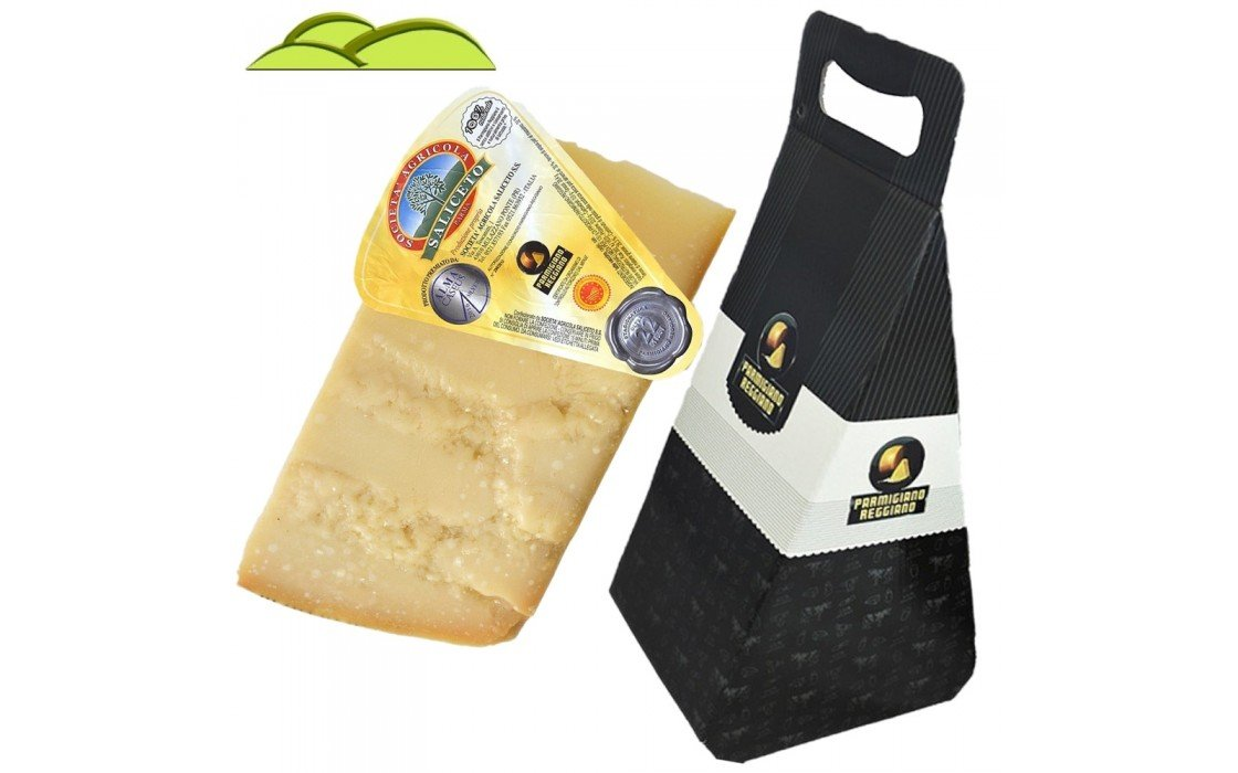Parmigiano Reggiano Pdo, from HILL, 2,2 lbs. Seasoned 24 months, Gift box