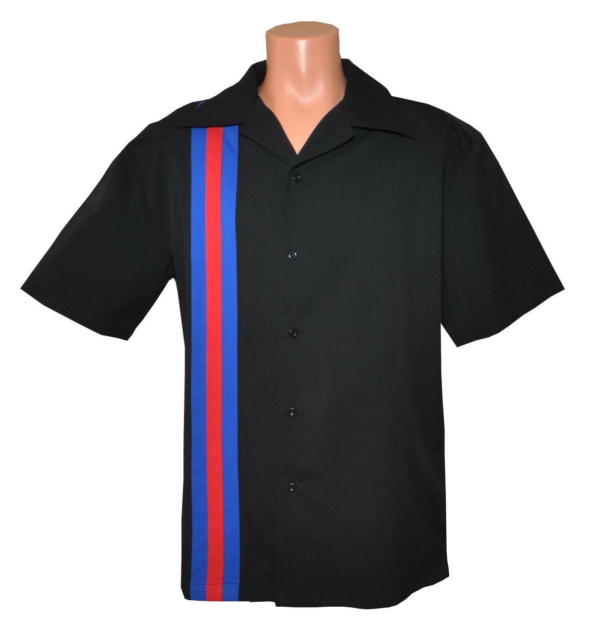 Designs by Attila Mens Leisure Bowling Shirt, 50's Style. Size XLarge USMC by Designs by Attila