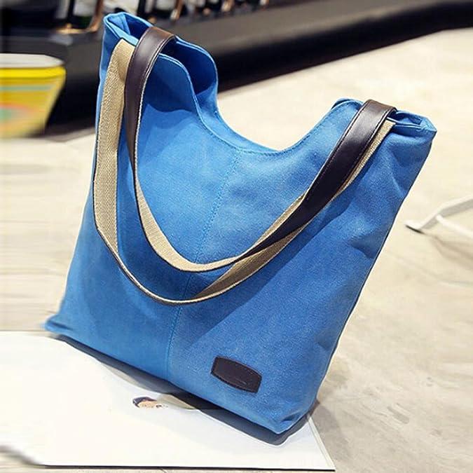 4871a1a860 Zerototens Women Handbag Large Bag Totes Fashion Laides Classic Pure Color  Canvas Large Capacity Shopping Handbags Shoulder Bags Casual Business  Travel ...