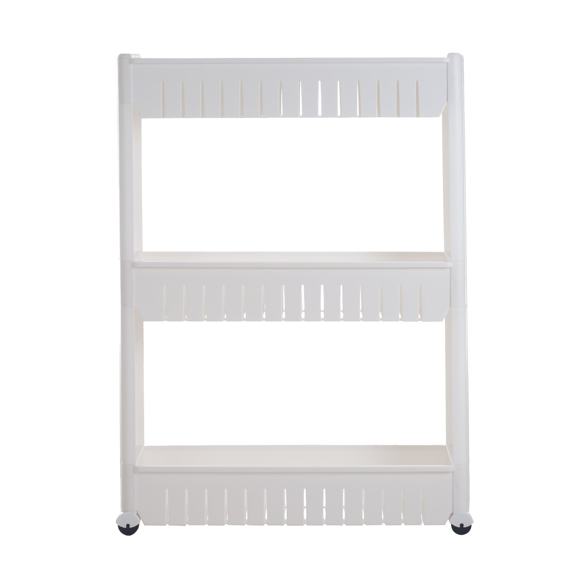 Mobile Shelving Unit Organizer with 3 Large Storage Baskets, Slim Slide Out Pantry Storage Rack for Narrow Spaces by Everyday Home by Trademark