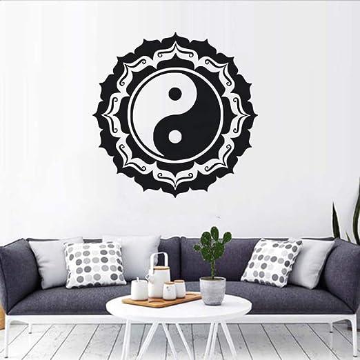 wukongsun Diseño de Yin y Yang Etiqueta de la Pared Buda Mandala ...