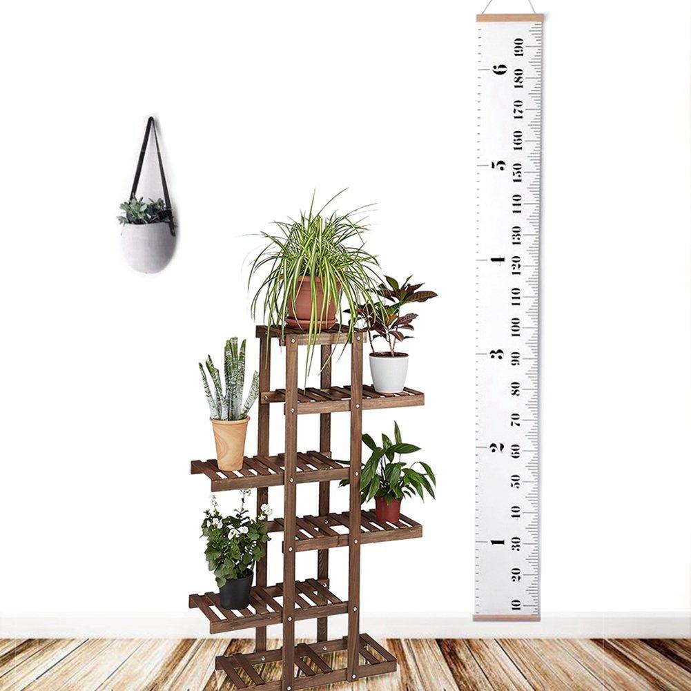 Messlatte Kinder 0-200cm Mimicool Me/ßlatte Holz f/ür Kinder Messlatte Kinderzimmer H/ängende Wachstumskarte Wachstumsmesser Messleiste in Wei/ß