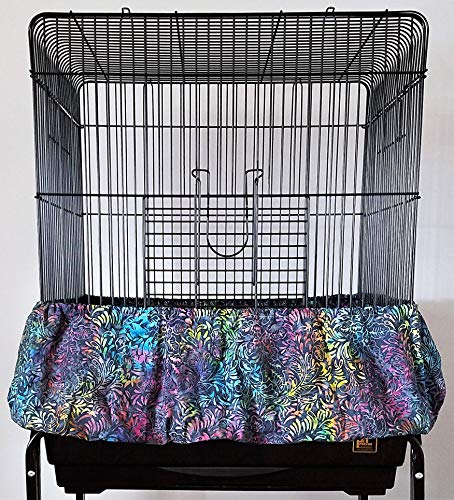 Penn Seed Seed Guard and Catcher Bird Cage Skirt - Multi Foliage (Medium (44