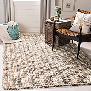 Safavieh Natural Fiber Collection NF447K Hand Woven Grey and Natural Jute Area Rug (6' x 9') (B00PNQR5UY) | Amazon price tracker / tracking, Amazon price history charts, Amazon price watches, Amazon price drop alerts