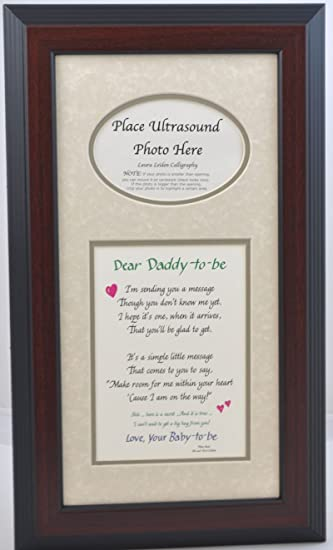 Amazon.com : Daddy to Be Ultrasound Picture Frame 7x14 Sonogram Gift ...